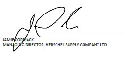 Signature de Jamie Cormack, Directeur général