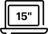icône de description Housse d'ordinateur 15pouces