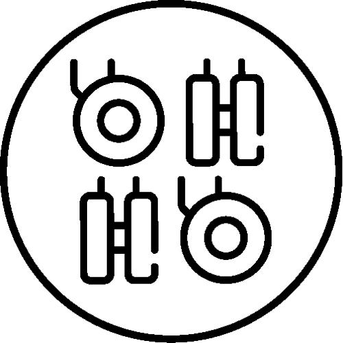 icône de description Quatre roulettes omnidirectionnelles