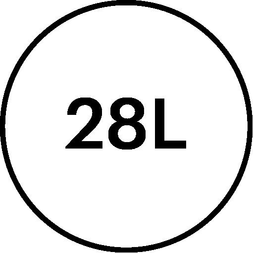 icône de description Volume 28litres