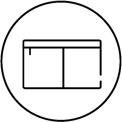Center divider icon