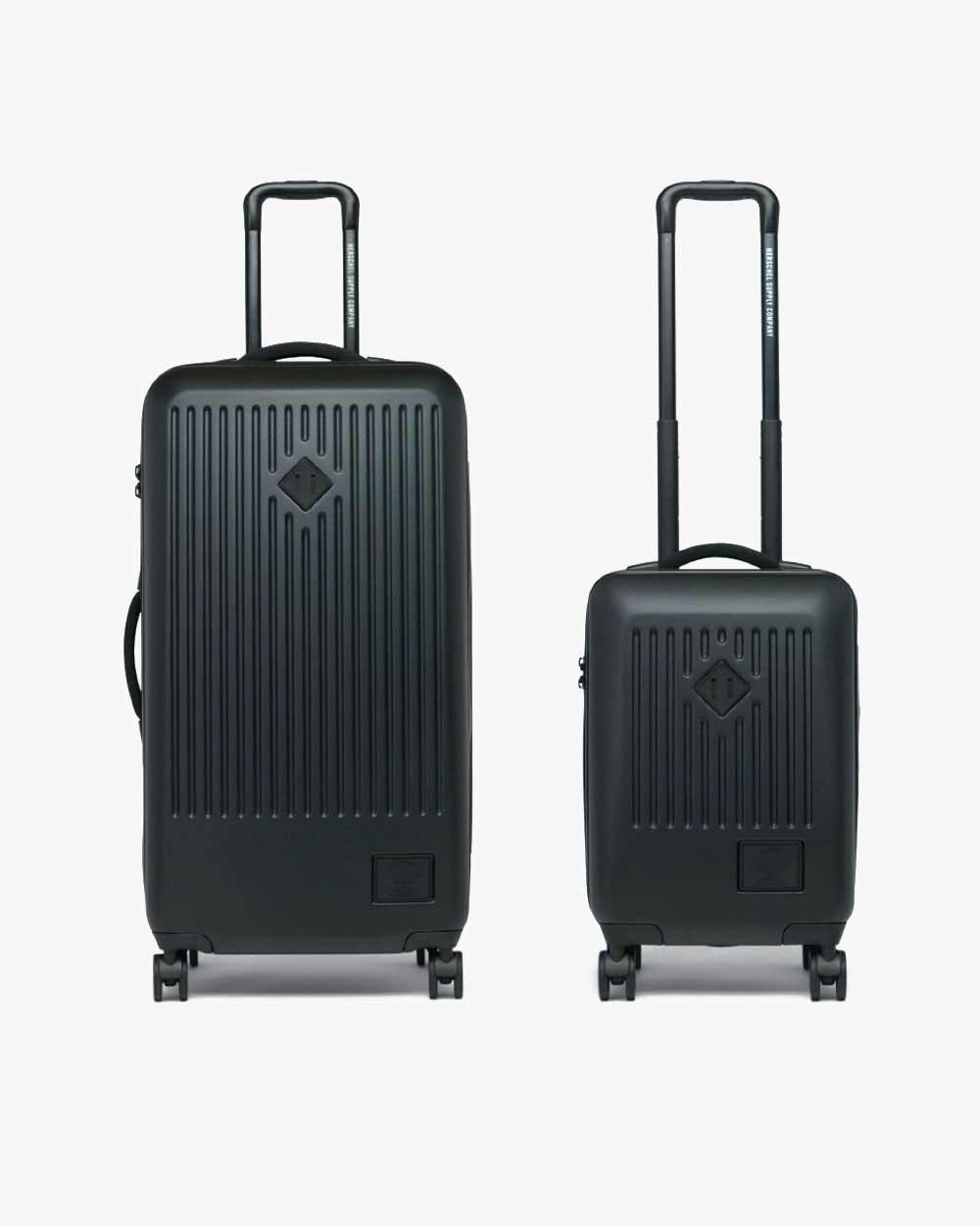 image d'un bagage et d'un bagage à main herschel trade large noirs