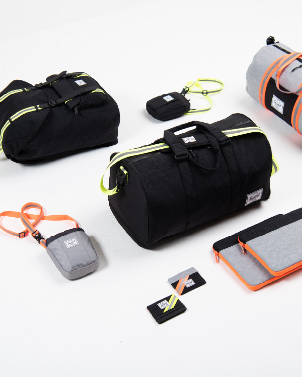 A collection of Herschel products in the Enzyme colourway.