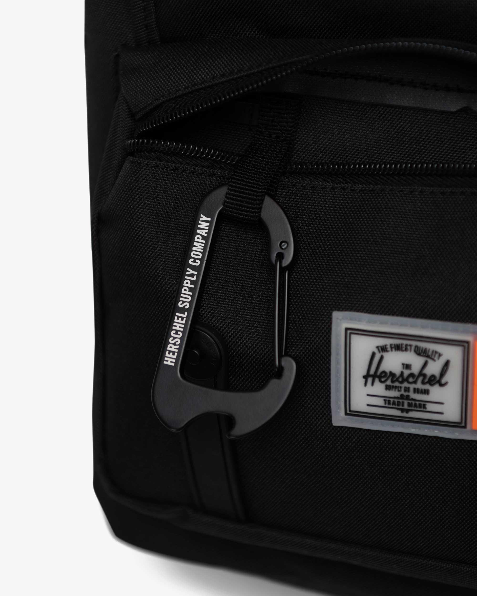 Front pocket with key clip bottle opener