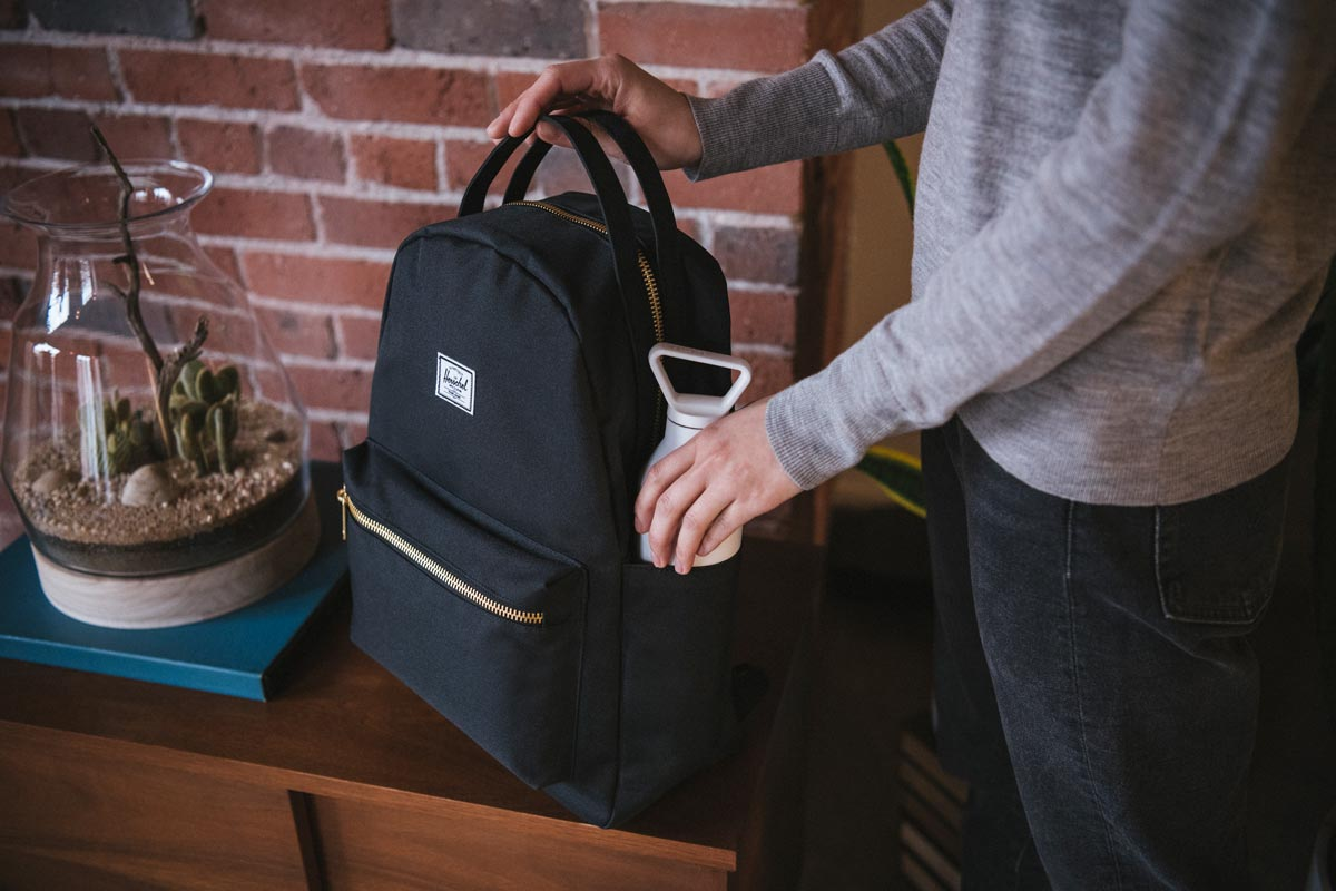 Dual side pockets keep water bottles and other essentials easily accessible